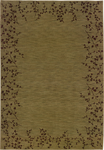 Oriental Weavers Allure 004E1 Green/Brown Area Rug main image