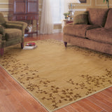 Oriental Weavers Allure 004F1 Beige/Brown Area Rug Roomshot