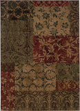 Oriental Weavers Allure 058B1 Green/Red Area Rug main image