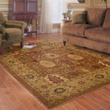 Oriental Weavers Allure 006F1 Rust/Gold Area Rug Roomshot