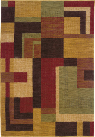 Oriental Weavers Allure 009A1 Red/Gold Area Rug main image