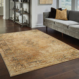 Oriental Weavers Andorra 6845D Gold/ Brown Area Rug Room Scene