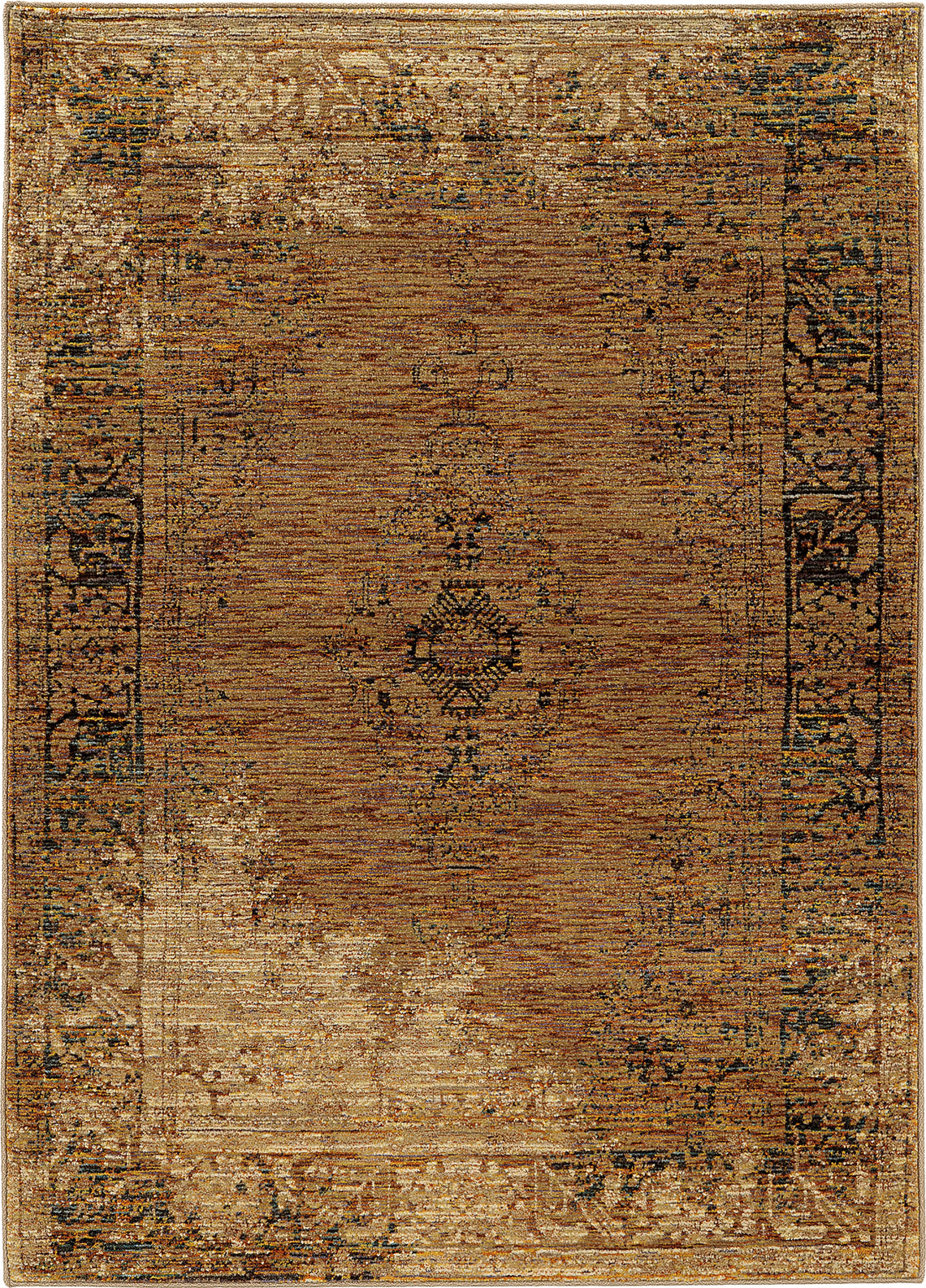 Oriental Weavers Andorra 6845D Gold/ Brown Area Rug main image