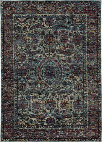 Oriental Weavers Andorra 6846B Blue/ Purple Area Rug main image