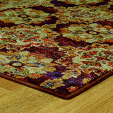 Oriental Weavers Andorra 6883A Red/ Gold Area Rug Corner