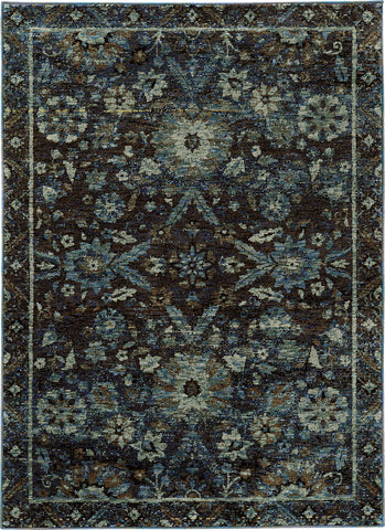 Oriental Weavers Andorra 7124A Navy/ Blue Area Rug main image