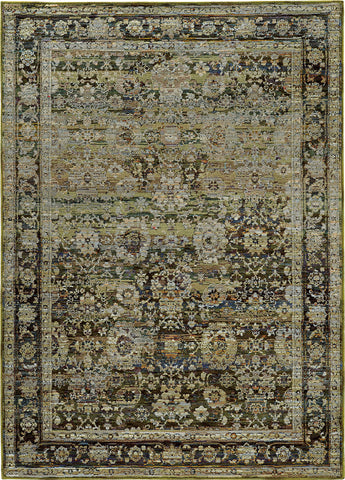 Oriental Weavers Andorra 7125C Green/ Brown Area Rug main image