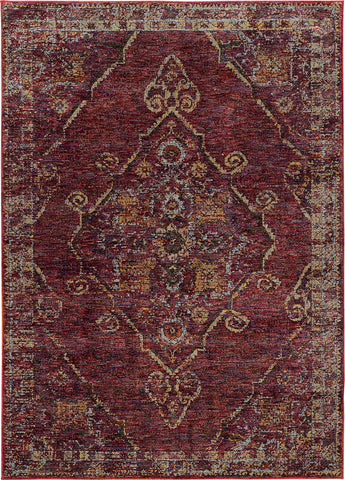 Oriental Weavers Andorra 7135E Red/ Gold Area Rug main image