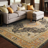 Oriental Weavers Andorra 7138B Gold/ Grey Area Rug Roomshot