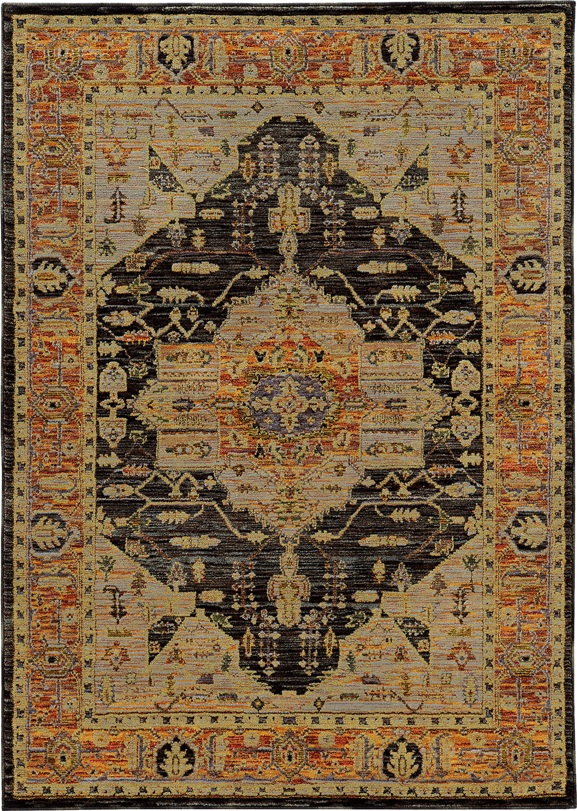 Oriental Weavers Andorra 7138B Gold/ Grey Area Rug main image