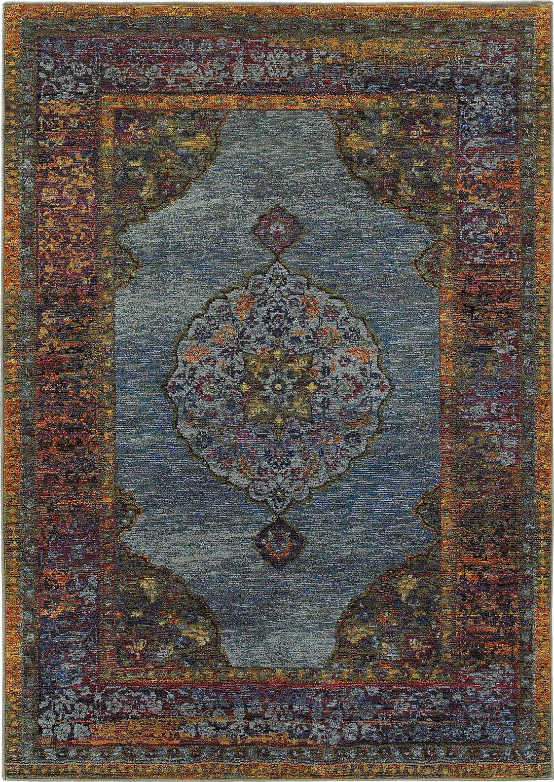 Oriental Weavers Andorra 7139A Blue/ Multi Area Rug main image