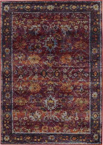 Oriental Weavers Andorra 7153A Red/ Purple Area Rug main image