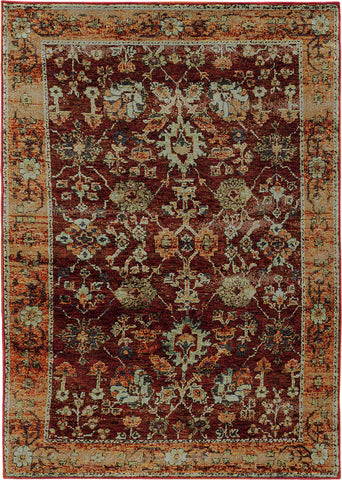 Oriental Weavers Andorra 7154A Red/ Gold Area Rug main image