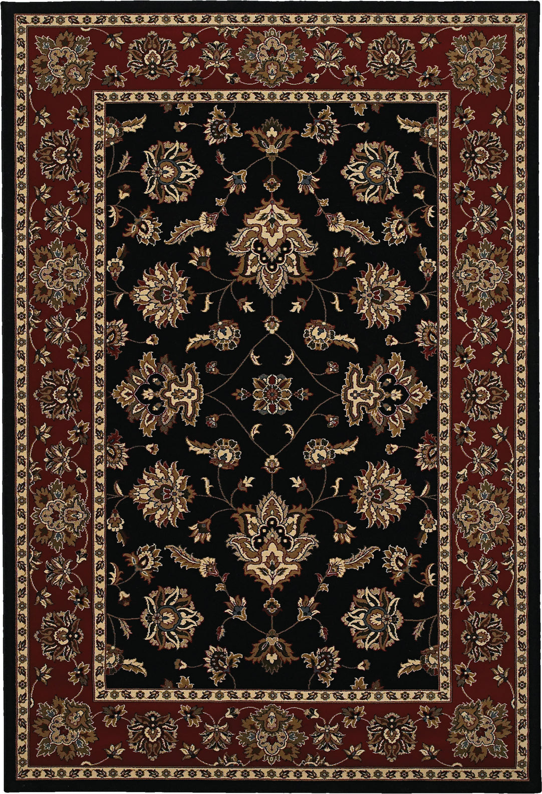 Oriental Weavers Ariana 623M3 Black/Red Area Rug main image