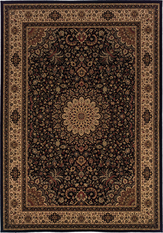 Oriental Weavers Cambridge 195N2 Black/Ivory Area Rug main image