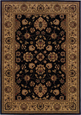 Oriental Weavers Cambridge 530Q2 Black/Ivory Area Rug main image