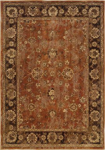 Oriental Weavers Casablanca 4465E Orange/Mink Area Rug main image