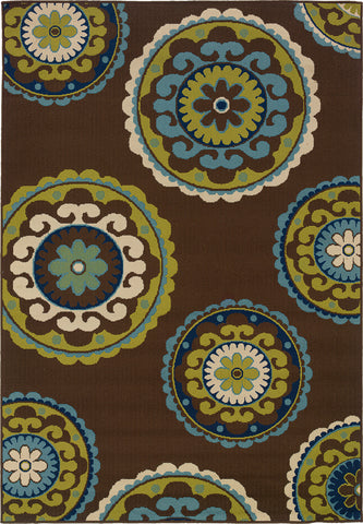 Oriental Weavers Caspian 859D6 Brown/Green Area Rug main image