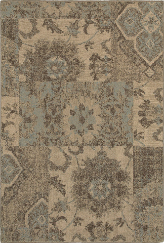 Oriental Weavers Chloe 4712K Tan/Blue Area Rug main image