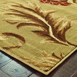 Oriental Weavers Darcy 701J9 Tan/Gold Area Rug Corner Shot