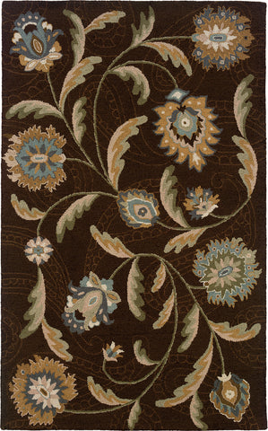 Oriental Weavers Eden 87108 Brown/Blue Area Rug main image