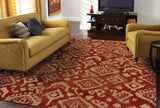 Oriental Weavers Ella 5113D Red/Beige Area Rug RoomScene