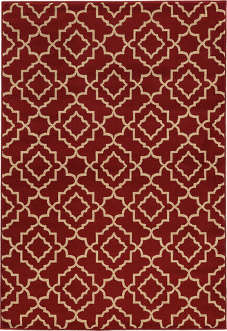 Oriental Weavers Ella 5185E Red/Beige Area Rug main image