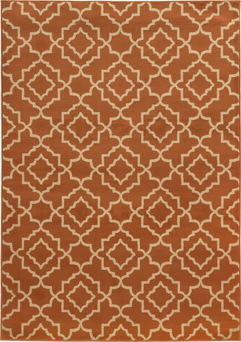 Oriental Weavers Ella 5185F Orange/Beige Area Rug main image