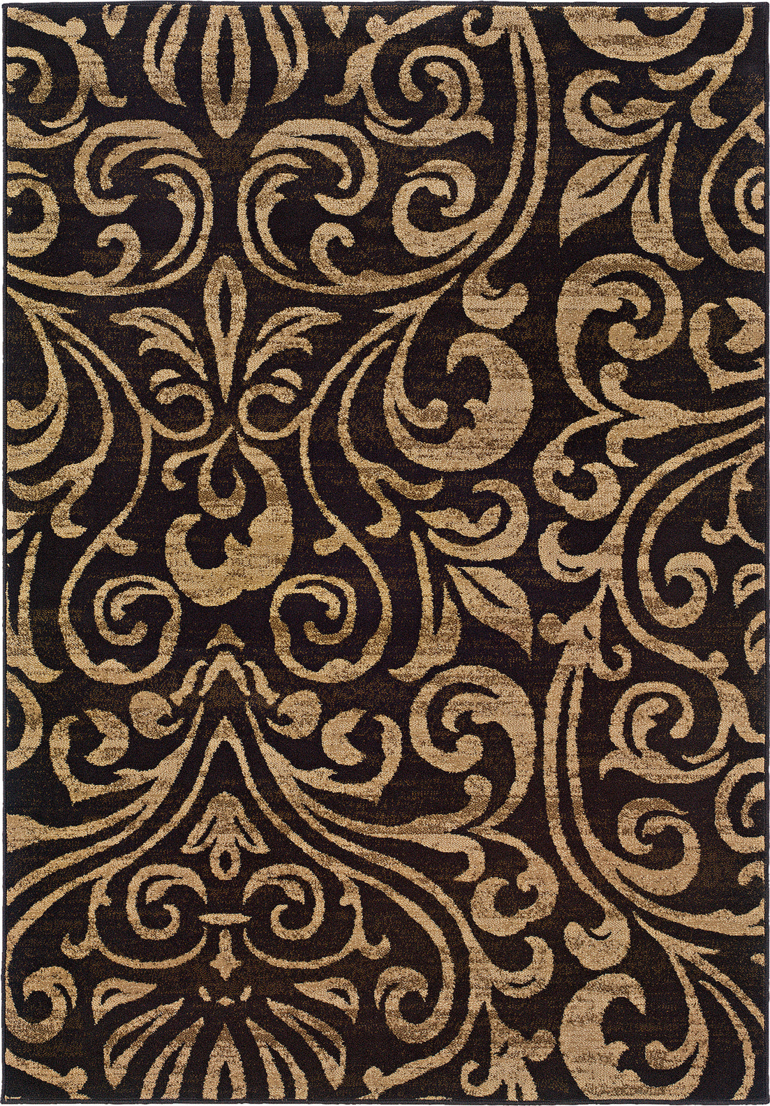 Oriental Weavers Emerson 2033C Black/Gold Area Rug main image