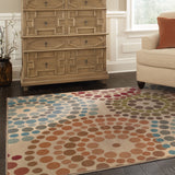 Oriental Weavers Emerson 2205A Gold/Blue Area Rug Roomshot