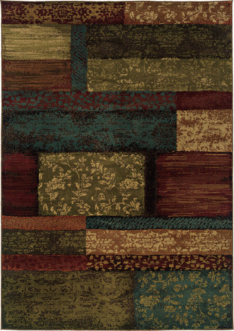 Oriental Weavers Emerson 2480C Brown/Teal Area Rug main image