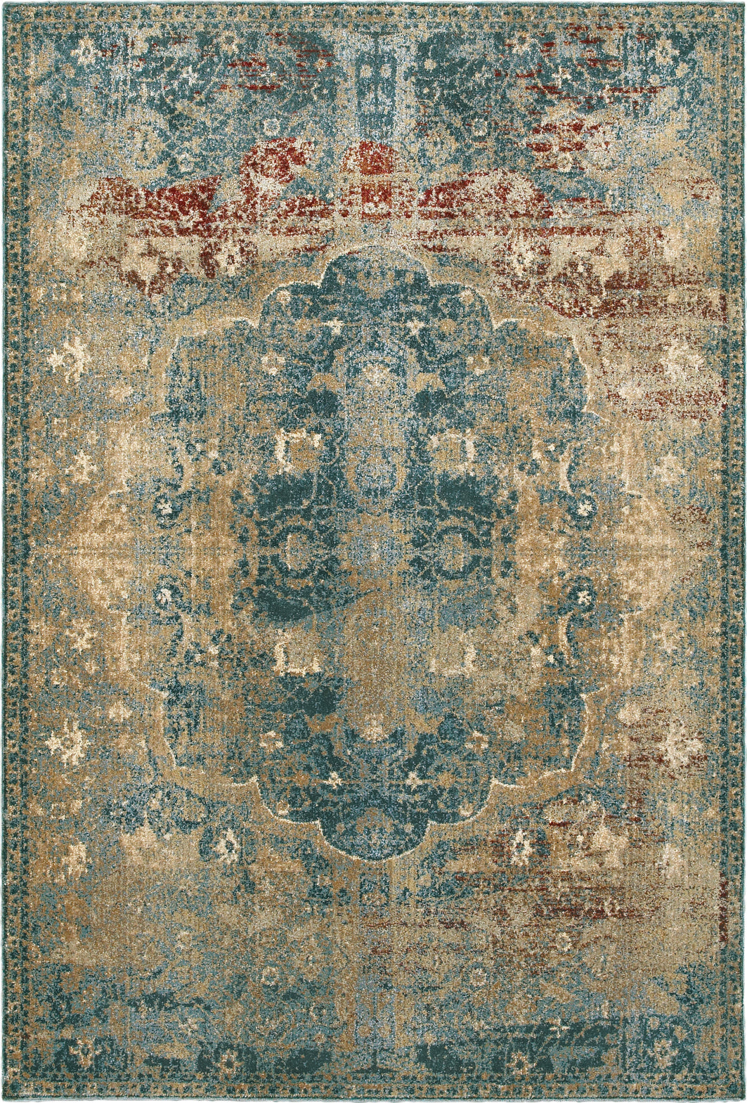 Oriental Weavers Empire 4449H Gold/ Blue Area Rug main image