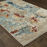 Oriental Weavers Evolution 8043K Beige/ Blue Area Rug Detail Shot
