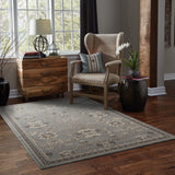 Oriental Weavers Foundry 4923E Grey/ Charcoal Area Rug Roomshot