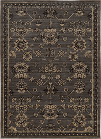 Oriental Weavers Foundry 4923E Grey/ Charcoal Area Rug main image