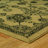 Oriental Weavers Foundry 4923W Beige/ Grey Area Rug Corner