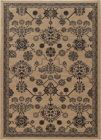 Oriental Weavers Foundry 4923W Beige/ Grey Area Rug main image