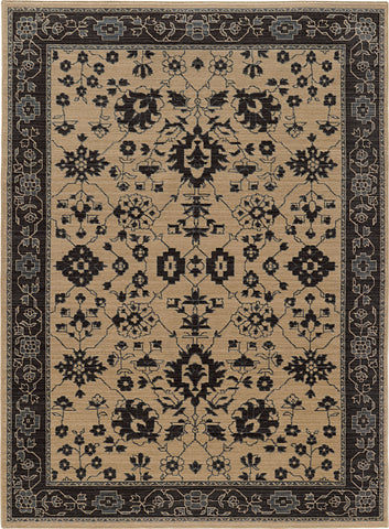 Oriental Weavers Foundry 596I5 Sand/ Grey Area Rug main image