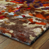 Oriental Weavers Galaxy 21904 Multi/ Orange Area Rug Corner