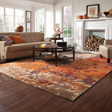 Oriental Weavers Galaxy 21904 Multi/ Orange Area Rug Roomshot