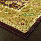 Oriental Weavers Generations 1732M Purple/Gold Area Rug Corner