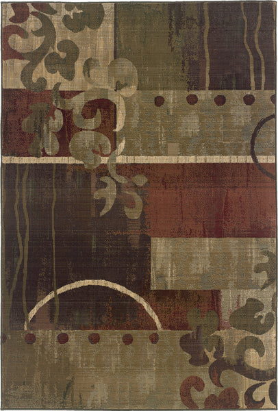 Oriental Weavers Generations 8007a Green Red Area Rug Incredible