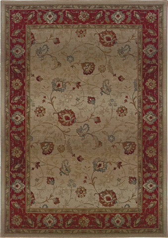 Oriental Weavers Genesis 521J1 Beige/Red Area Rug main image
