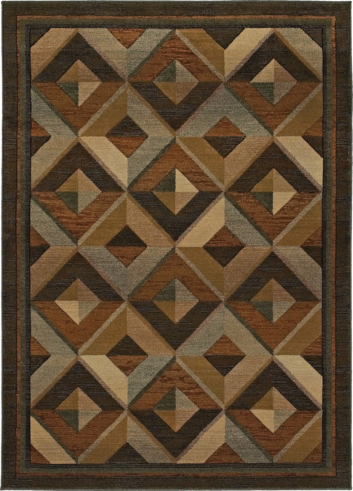 Oriental Weavers Genesis 956Q1 Brown/Beige Area Rug main image