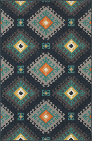 Oriental Weavers Hampton 4929B Navy/Grey Area Rug main image