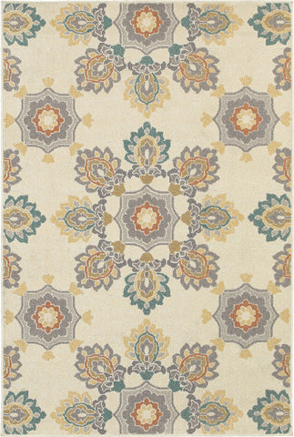 Oriental Weavers Hampton 078W5 Ivory/Grey Area Rug main image