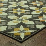 Oriental Weavers Hampton 8021L Grey/Gold Area Rug Corner