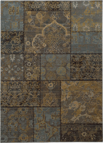 Oriental Weavers Heritage 1336H Charcoal/Blue Area Rug main image