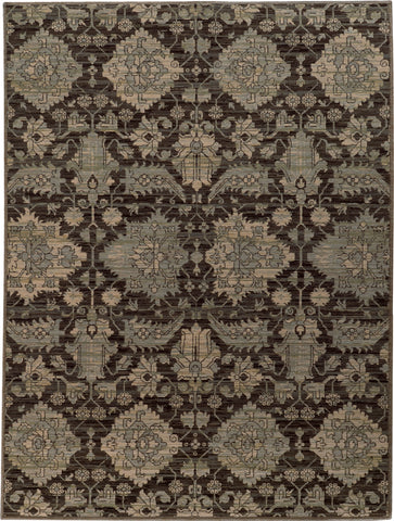 Oriental Weavers Heritage 8124N Charcoal/Blue Area Rug main image