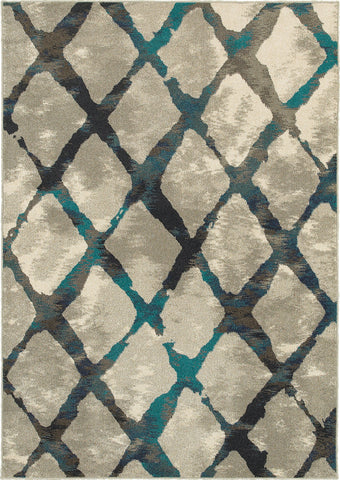 Oriental Weavers Highlands 6613A Grey/Blue Area Rug main image